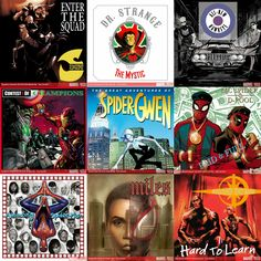 Marvel's excellent adaptions and the original albums that inspired the art.
