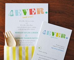 Cute wedding invites.