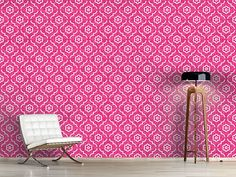 Design #Tapete Pink Lady Marokko Pink Lady, Curtains, Shower, Prints, Home Decor, Moroccan Design, Self Adhesive Wallpaper, Morocco, Asia