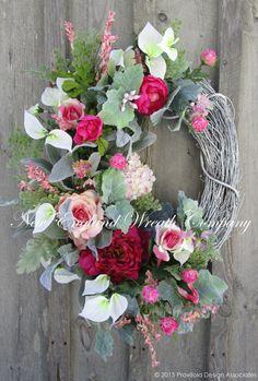 Spring Wreath Easter Wreath Garden Wreath by NewEnglandWreath