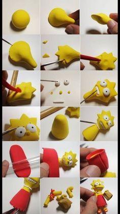 Gum paste Lisa Simpson