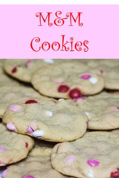 M&M Cookies perfect for Valentine's Day | Sew You Think You Can Cook | http://sewyouthinkyoucancook.com