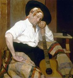 Urgell, Ricardo (1874-1924) - The Guitar Player