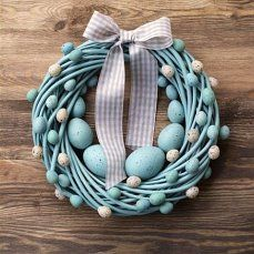 Items similar to Easter wreath turquoise&beige spring pastel holiday home decor door wall wreaths decorations egg eggs nest on Etsy, a global handmade and vintage marketplace. Easter Wreaths, Holiday Wreaths, Easter Crafts, Christmas Crafts, Easter Decor, Easter Ideas, Easter Holidays, Home And Deco, Diy Wreath
