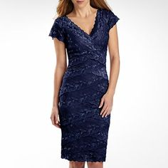 Shutter-Pleat Dress with Lace Details - jcpenney - $90