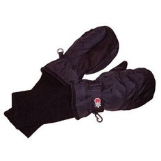 SnowStoppers Kid's Nylon Waterproof Snow Colorful Mittens (Black, X-Large)