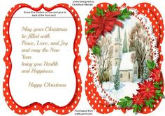 Tent Card Wirh Verse   Peace at Christmas on Craftsuprint designed by Ceredwyn…
