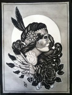 Black and white art ..Great Idea for a tattoo;)