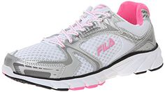 827a841c06d1 Fila Womens Approach Running Shoe WhiteMetallic SilverSugar Plum 9 M US     See this great