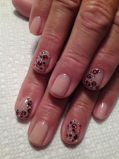 Natural gel with red bling