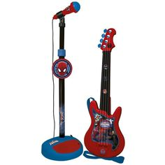 Reig Ultimate Spider-Man Guitar and Microphone Set Toy Cars For Kids, Music For Kids, Toys For Girls, Kids Toys, Kids Spiderman Costume, Nerf Toys, Disney Cars Party, Fantasias Halloween, Musical Toys