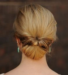 low bun updo with a twist