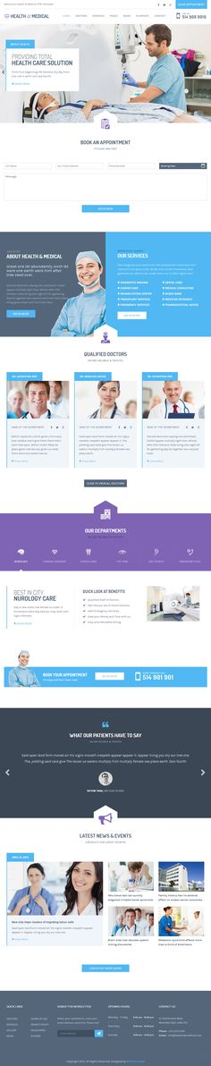 Health & Medical is Premium full Responsive Medical HTML5 Template. Retina Ready. Foundation 5 Framework. Social Links. SASS. #HTML5 #Foundation5Framework #Retina Test free demo at: