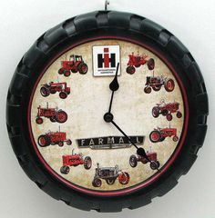 Tractor, farm wall clock