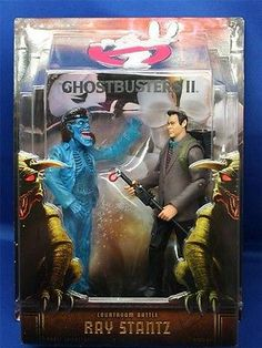 Ghostbusters 2 II Ray Stantz Courtroom Battle Figure W/ Scoleri Brother New