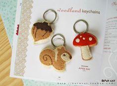 獨家新品*森林系鑰匙掛件* 包含3款 不織布材料包