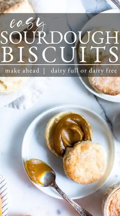 Quick to whip up and freezer friendly, make this Easy Sourdough Biscuit Recipe using your sourdough discard! Buttery, soft, light and fluffy, these are the star at the breakfast table! This recipe is vegetarian and easily vegan. Bean Recipes, Vegetarian Recipes, Sourdough Biscuits, Most Pinned Recipes, Recipe Maker, World's Best Food, Spring Recipes, Biscuit Recipe, Vegan Butter