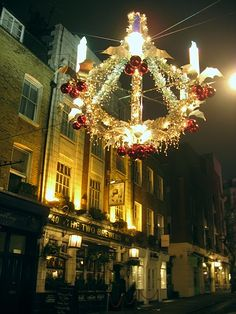 Christmas in London, UK by GothPhil, via Flickr - The Two Brewers pub on Monmouth Street, Covent Garden, London, England
