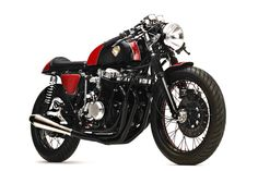 This stunning Honda CB750 cafe racer is the result of a collaboration between Dime City Cycles and Iron & Air Magazine, it was presented to the public for the first time at the The Barber Vintage F...