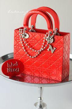 A red Christian Dior bag, a birthday dedication for Ning.