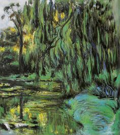Weeping Willow and Water-Lily Pond-Claude Monet by PaintingMania