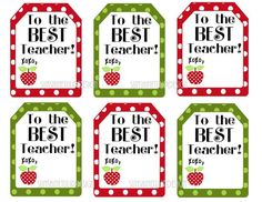 Free printable gift tag templates for teacher appreciation free printable teacher appreciation gift tags the best teacher gift tags negle Gallery