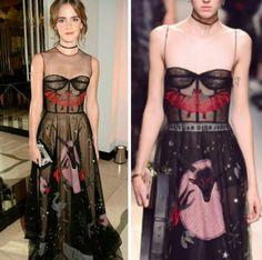 Vejam o potencial fashion do vestido artístico, 'Le Diable', da Dior, na Emma Watson. Belíssimo!♥️✨ #glamourous #emmawatson #fashionstyle #dior #inspiration #hapersbazaar #womenoftheyear #london