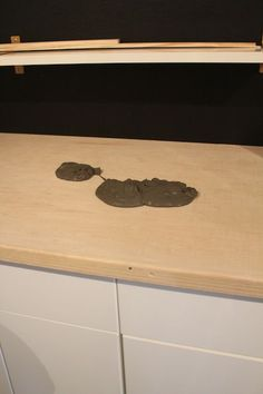 laundry room makeover: diy plywood countertop | plywood countertop