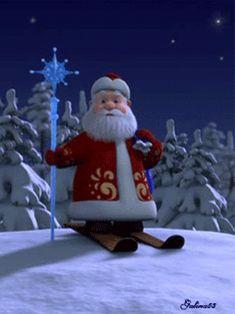 Merry Christmas Animation, Animated Christmas Tree, Merry Christmas Gif, Father Christmas, Christmas Is Coming, Christmas And New Year, Winter Christmas, Christmas Time, Christmas Cards