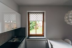 Black SWISS CROSS mini roller blind by MOTIVO. Simple and beautiful.