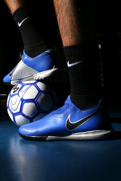 73c14e19de1 Zapatillas de fútbol sala con  tobillera  Nike  FootballX suela lisa IC -  azules