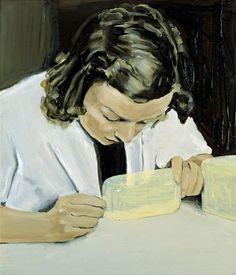 Michaël Borremans , The Assistant, 2000 Portraits, Portrait Art, Figure Painting, Painting & Drawing, Michael Borremans, Art For Art Sake, Museum Of Modern Art, Art Drawings, Contemporary Art