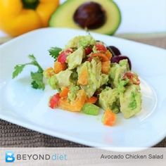 Avocado Chicken Salad - You'll find yourself wanting to make this every day for lunch or dinner!