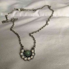Silver gem necklace ($28) is on sale on Mercari, check it out! https://item.mercari.com/gl/m747839643/