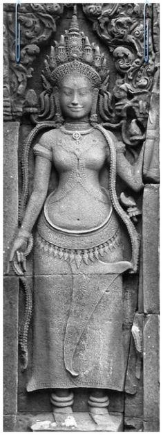 apsara, Bayon temple, Angkor, Cambodia