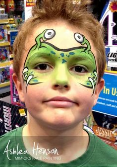 Alien face painting  --  This makes me think of the new Monster Inc. movie.