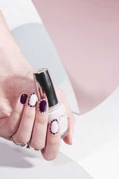 It's a polka dot part in this fall nail art look from featured artist Bana Jarjour. Shade: Don't Bossa Nova Me Around, now available in Infinite Shine