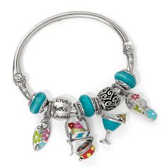 Brighton charm bracelet with beachy charms and beads