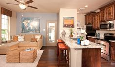 Kitchen and Living Room of Next Gen Suite - Crown Ridge : Next Gen Freedom Plan