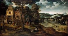 Landscape with The Flight into Egypt - Patinir Joachim - WikiArt.org - encyclopedia of visual arts