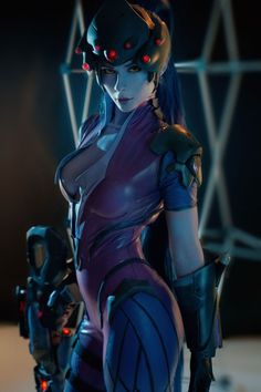 This Russian cosplayer is taking the world by storm, with a cosplay of Widowmaker from Overwatch that looks like it could have been ripped out of the game. Cosplay Anime, Epic Cosplay, Cute Cosplay, Amazing Cosplay, Cosplay Outfits, Cosplay Girls, Video Game Cosplay, Fatale Overwatch, Overwatch Widowmaker