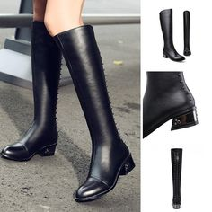 Knee High - Salome - Knee High - Salome @shoesofexception #rivet #kneehigh #boots