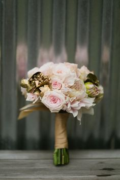 Blush roses and gilded berries are the perfect blend for a modern romantic bouquet | Amazáe Events, Cherries Flowers.