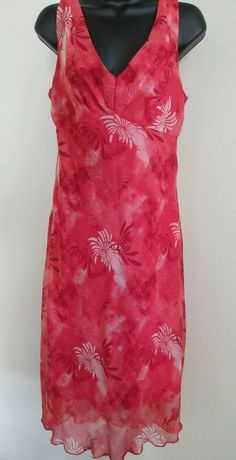 Jonathan Martin Studio Womens Dress Size 8 Sleeveless V-Neck Tropical Print #JonathanMartin