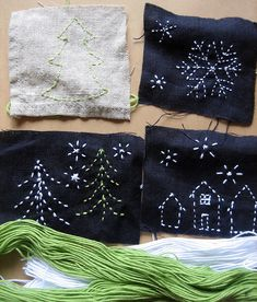 holiday sashiko