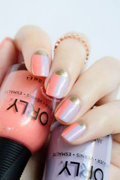 Two toned french nails || 7 Nails designs you haven't seen before : http://sonailicious.com/7-sonailicious-best-nail-designs-havent-seen-before/