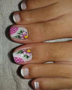 decoracion de uñas pies flores Manicure, Pedicure Nail Art, Toe Nail Art, Mani Pedi, Toe Nails, Cute Pedicure Designs, Toe Nail Designs, Cute Pedicures, New Nail Art Design