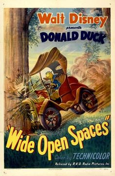 """Wide Open Spaces"" Donald Duck 1947 Disney Cartoon short movie poster"