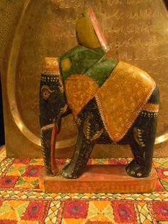 Charming Vintage Ethnic Indian Toy Elephant by luxethnic on Etsy, $115.00