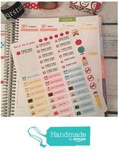 Back to School, First Day, School Days Planner Stickers, Erin Condren Life…
